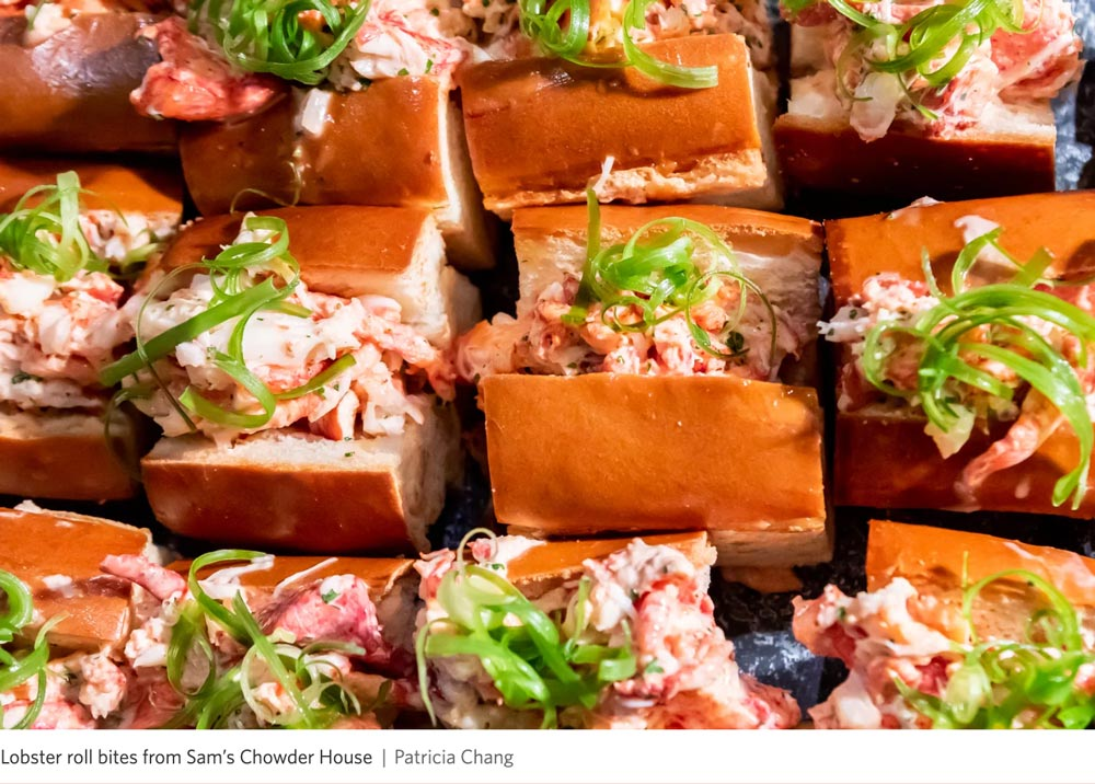 Sam's Chowder House lobster roll bites concessions at Chase Center